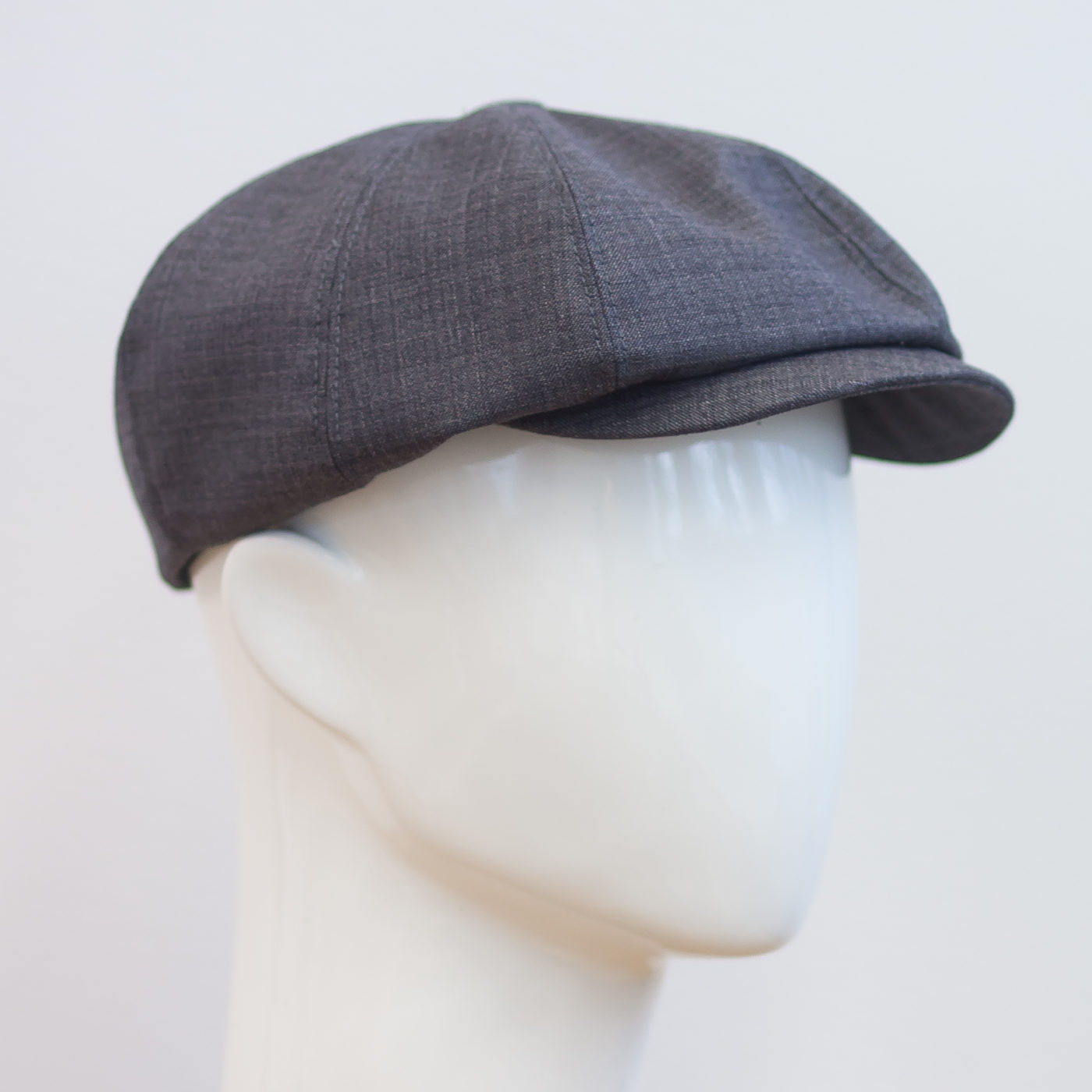 Käsintehty kangaslakki Katupoika-lakki Helsinki Hat Factory