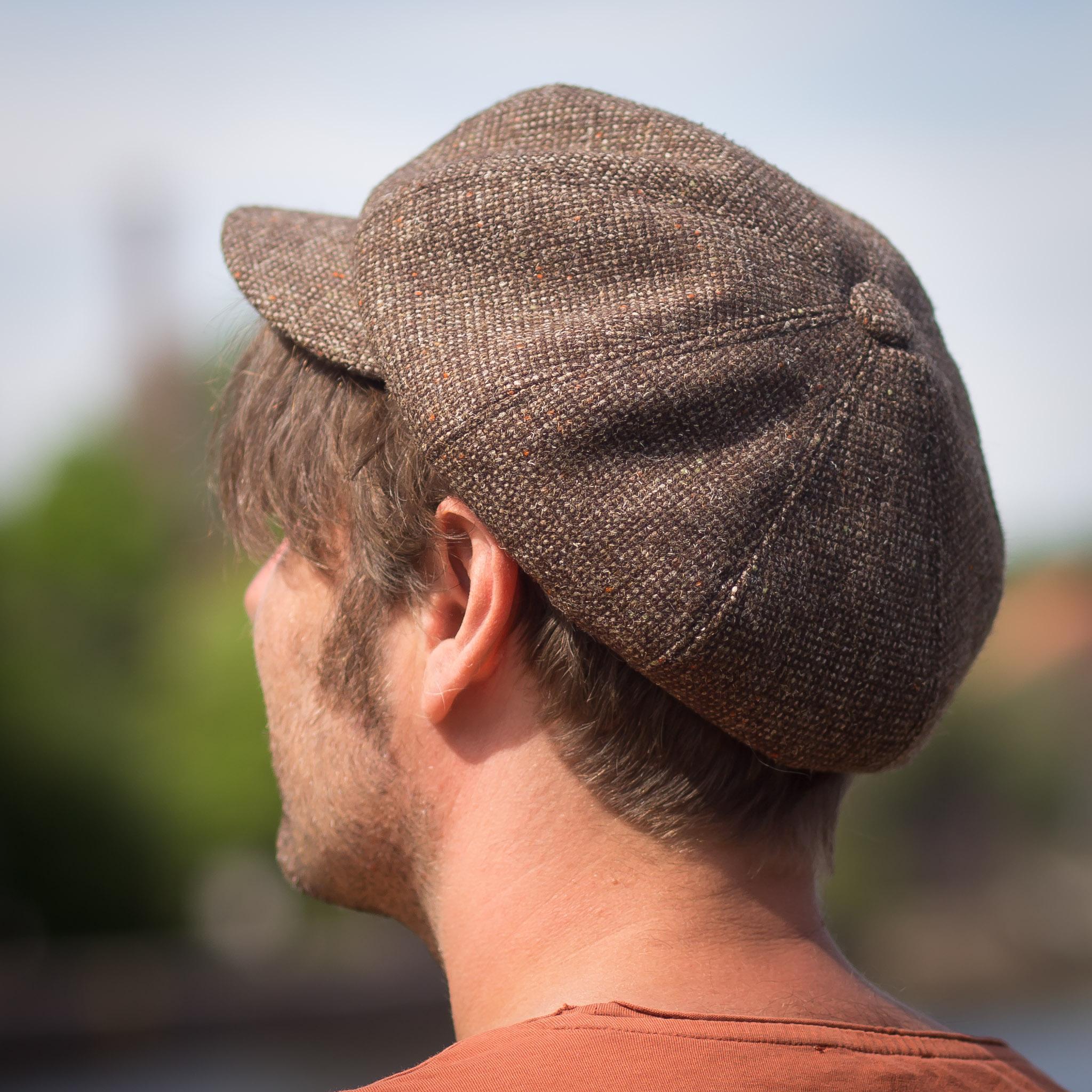 Katupoika-lakki ruskea donegal-tweed bakerboy Helsinki Hat Factory