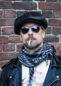 newsboy lakki katupoika musta kierrätetty nahka helsinki hat factory