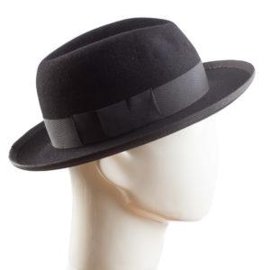 huopahattu fedora musta helsink hat factory