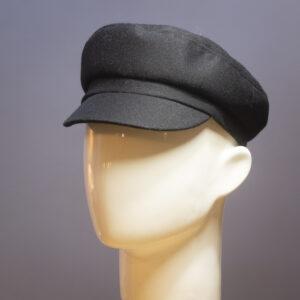 Kipparilakki Helsinki Hat Factory musta kangaslakki