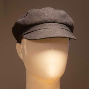 Kipparilakki musta pellava Helsinki Hat Factory